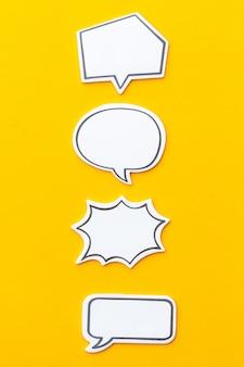 Social media chat-konzept. leere leere sprechblase für text