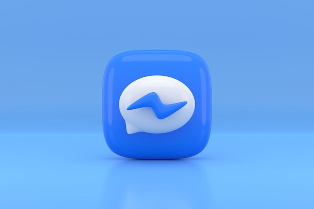 Social media icon design. 3d-rendering.