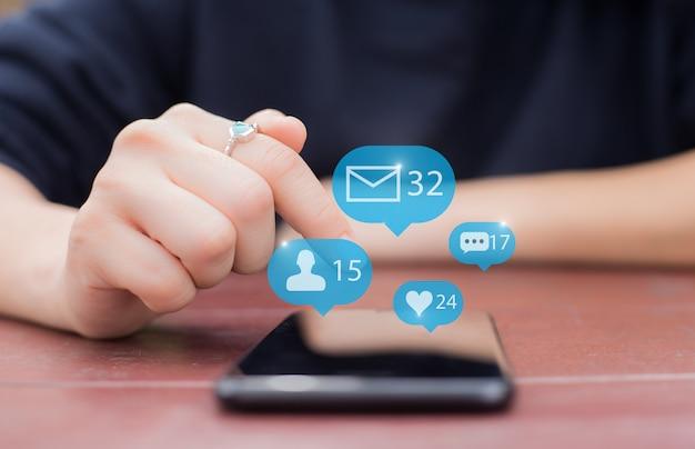 Social-media-netzwerk-konzept