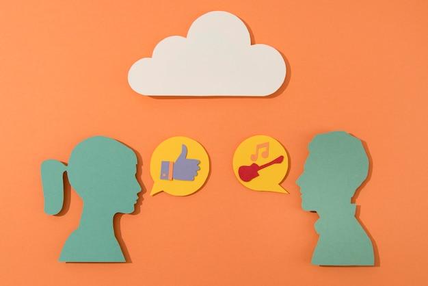 Social-media-stillleben mit menschen