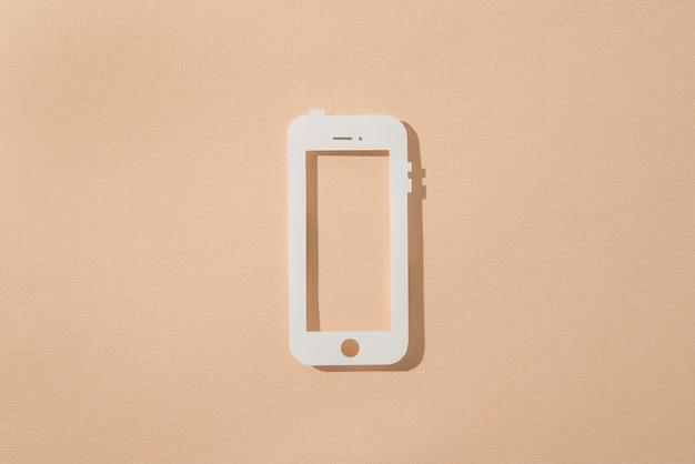 Social-media-stillleben mit telefon