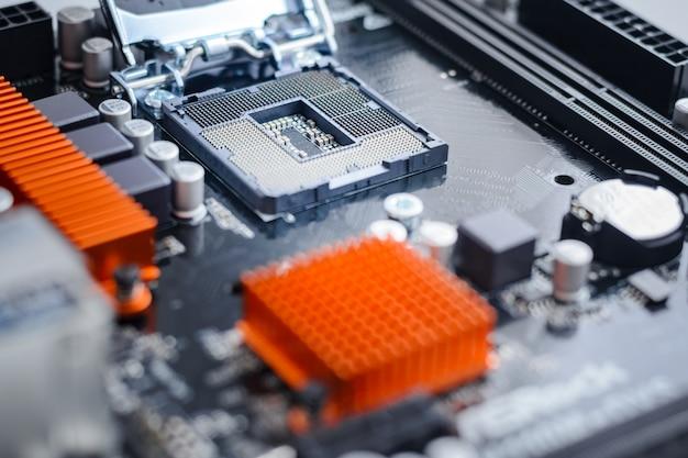 Sockel für die cpu im motherboard.