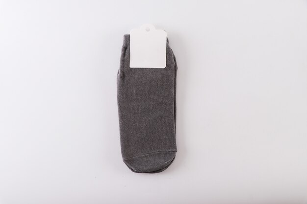 Socken auf weißem hintergrund