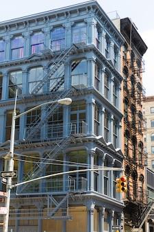 Soho-gebäudefassaden in manhattan new york city