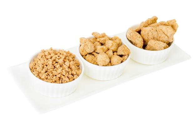 Sojaprodukte - ein analogon von fleisch für vegetarisches essen