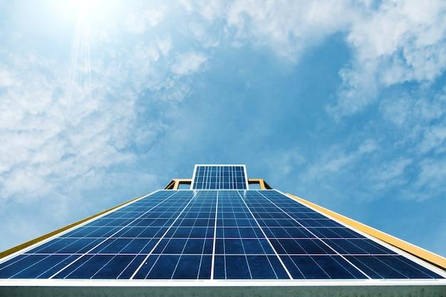 Solarzelle bei tageslicht
