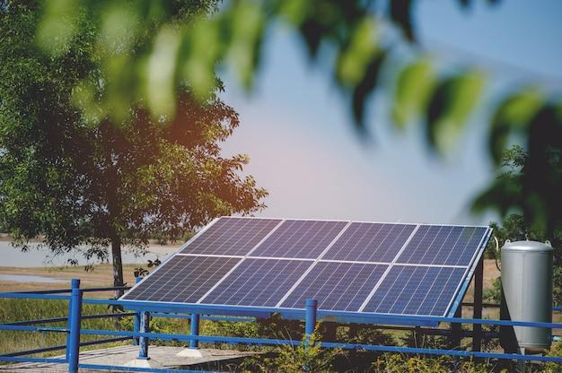 Solarzellen wandeln sonnenenergie von der sonne in energie um.