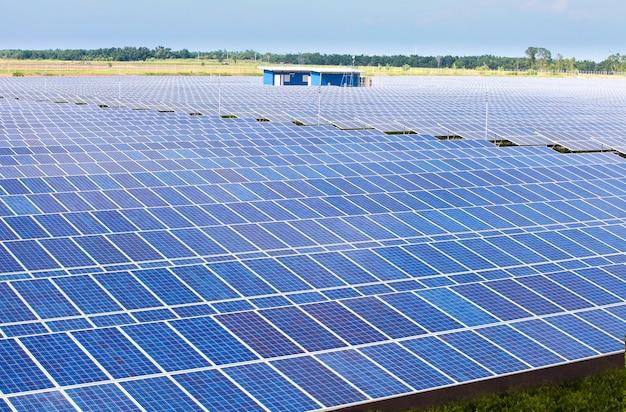 Solarzellenfarm für grüne energie
