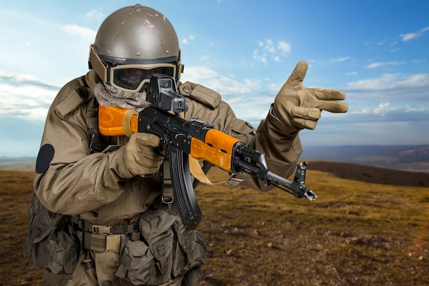 Soldat der spezialeinheit