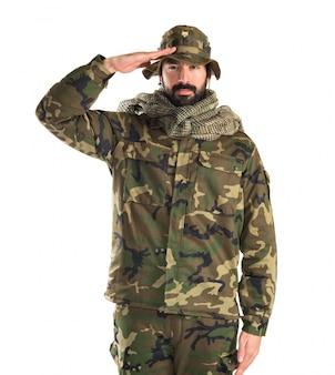 Soldat mit hut