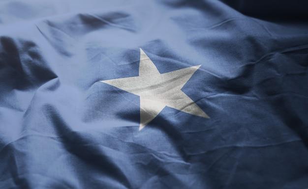 Somalia-flagge nah oben zerknittert