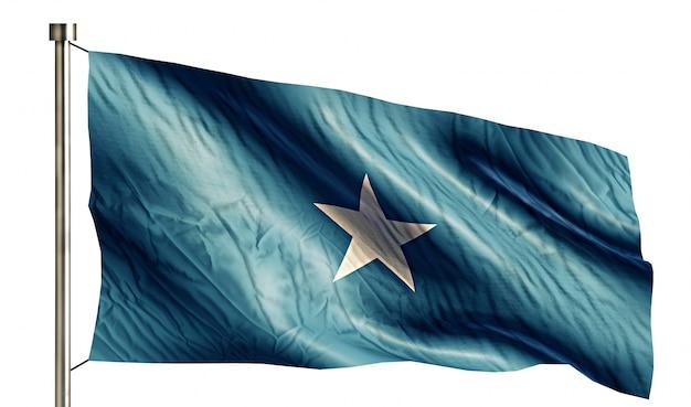 Somalia nationalflagge isoliert 3d weißen hintergrund