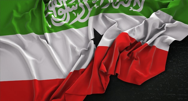 Somaliland-flagge auf dem dunklen hintergrund 3d-render