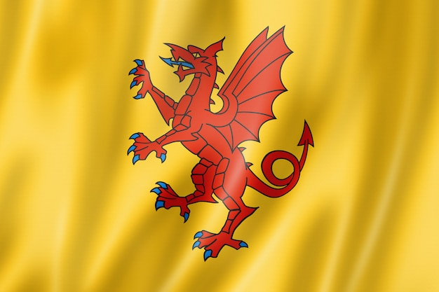 Somerset county flagge, großbritannien