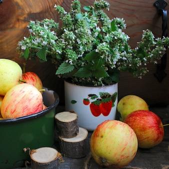 Sommer äpfel minze
