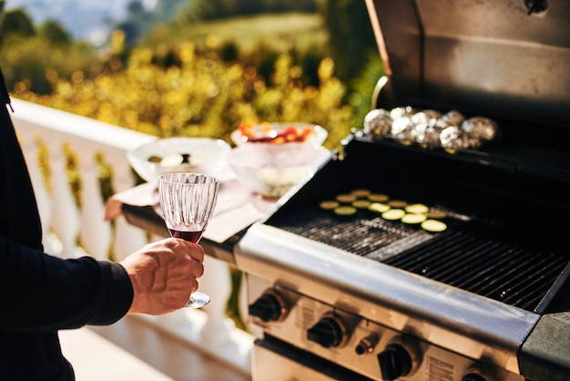 Sommer barbecue grill gemüse