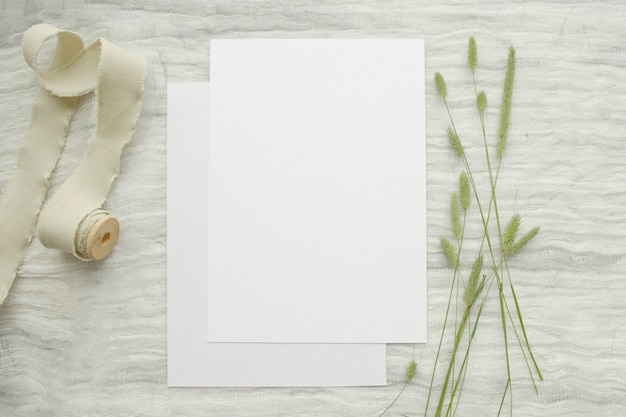 Sommer briefpapier modell szene mit kräutern