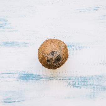 Sommer hintergrund mit kokosnuss