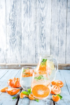 Sommer mandarinen limonade oder mojito