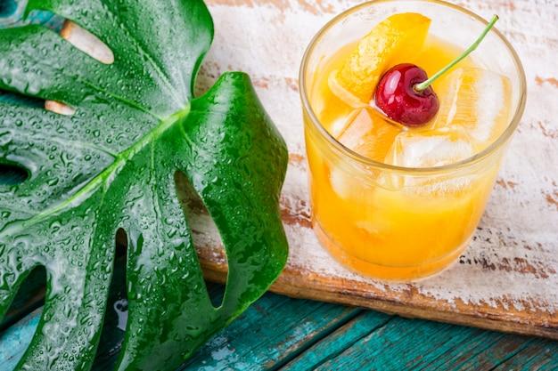 Sommer orangensaftgetränk