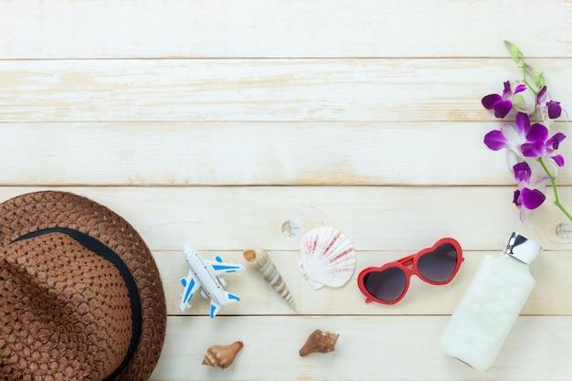 Sommer & reise strandurlaub in der saison hintergrund