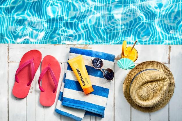 Sommer-schauer-sammlungs-buntes freizeit-neues konzept