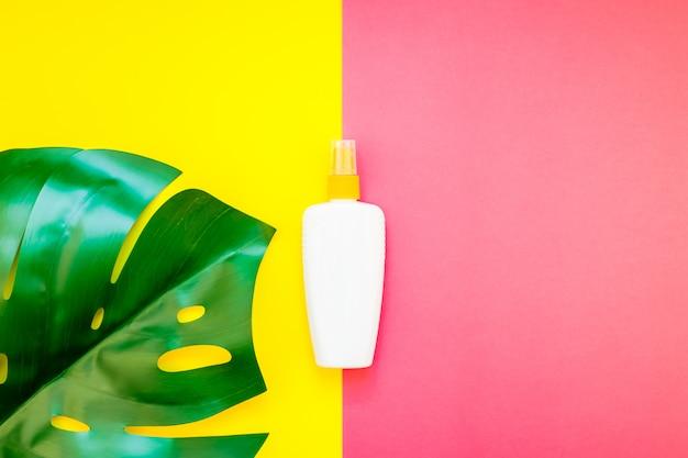 Sommer sonnencreme leere flasche