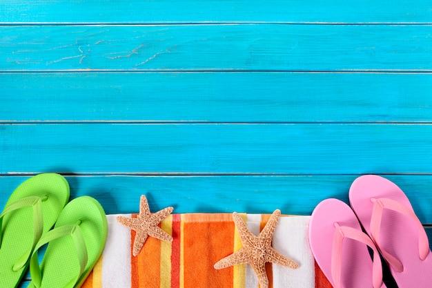 Sommer strand objekte grenze, sonnenbrille, flip-flops