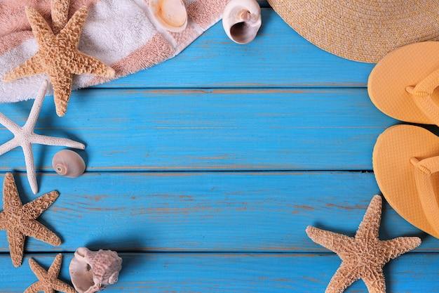 Sommer strand objekte rahmen