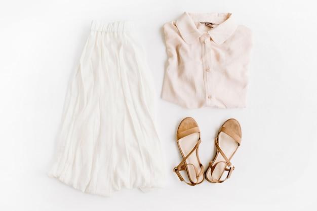 Sommer trendige frauenkleider und accessoires