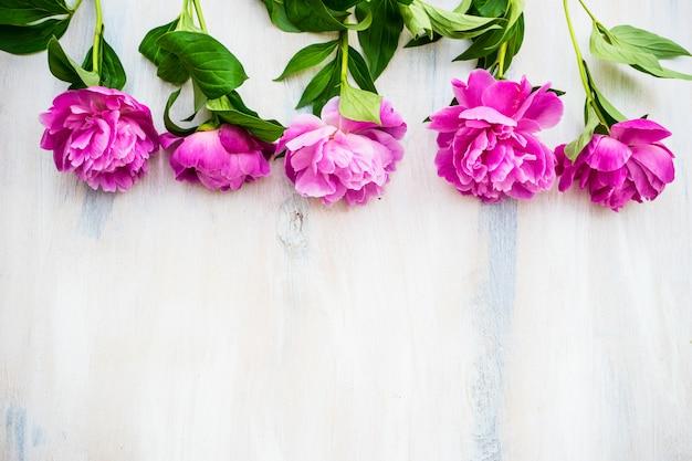 Sommerblumen mit pfingstrose