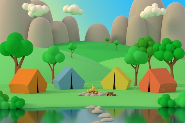 Sommercamp im wald
