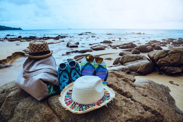 Sommerelemente im strand