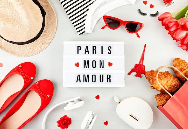 Sommerferien oder wochenende in paris-konzept