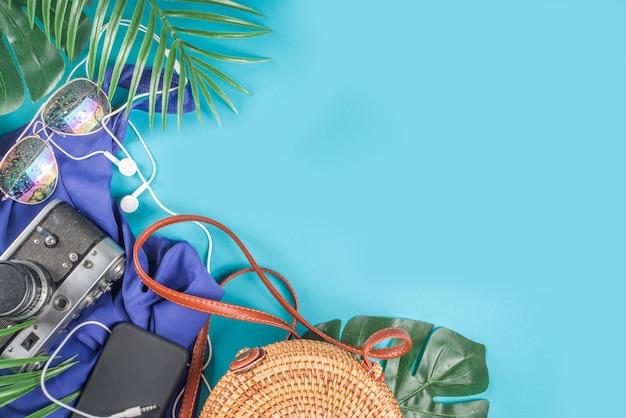 Sommerferien und reise flach liegen