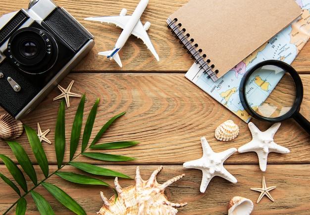 Sommerferienhintergrund. reisekonzept
