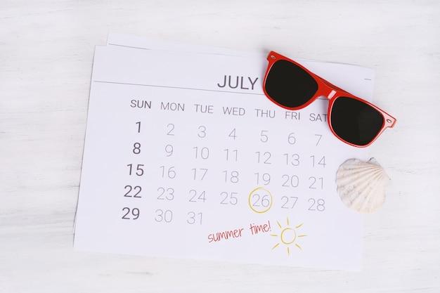Sommerkalender zeitplan.