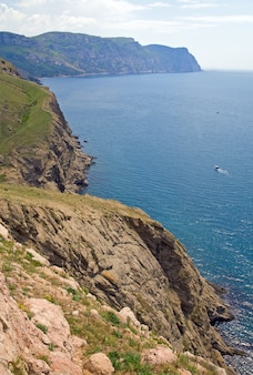 Sommerküstenblick von sturmhaube