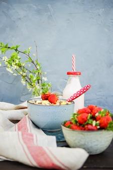 Sommerpause mit erdbeeren