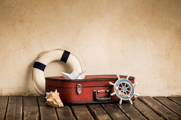 Sommerreise- und abenteuerkonzept