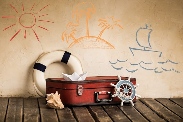 Sommerreise- und urlaubskonzept