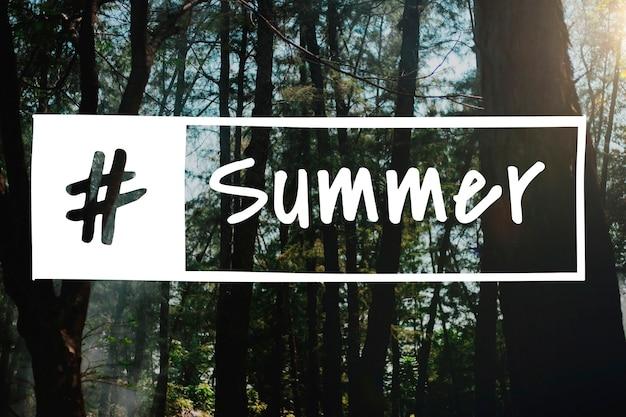 Sommersaison-wort-grafikkonzept