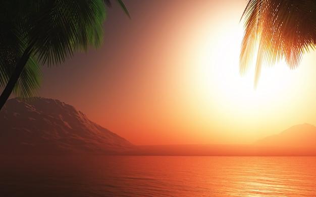 Sommerszene mit warmen tönen