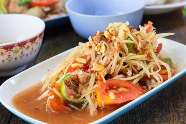 Somtam, thailändisches essen