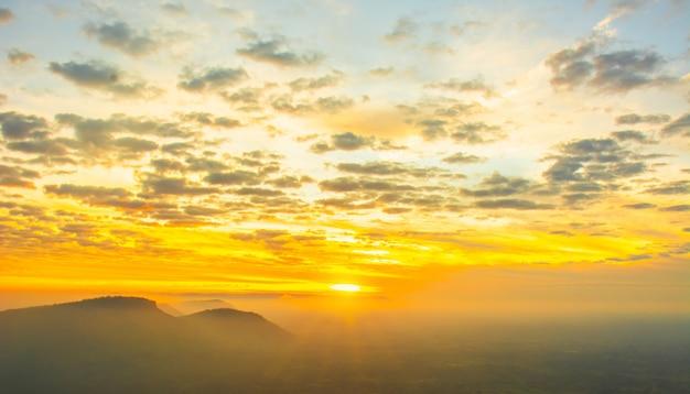 Sonnenaufgang am morgen.