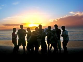 Sonnenaufgang gruppe