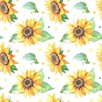 Sonnenblume nahtloses muster