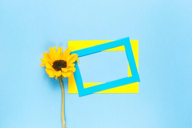 Sonnenblume und rahmen