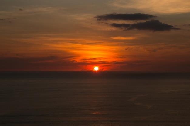 Sonnenuntergang auf dem laem phrom thep phuket