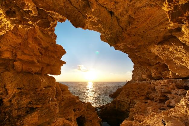 Sonnenuntergang in die grotte